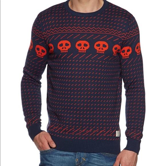 Originals by Jack Jones skull light sweater